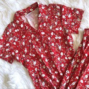VTG • 90's Micro Floral Button Down Maxi Dress